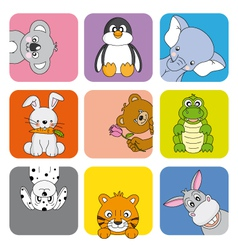 Funny Animal Card vector image