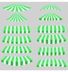 Green white tents vector