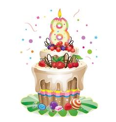 Happy birthday cake 8 vector