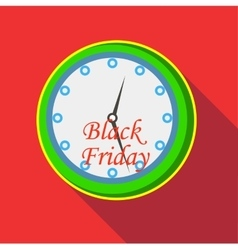 Hours and black friday icon flat style vector