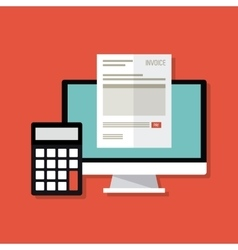Invoice design business icon finance concept vector image