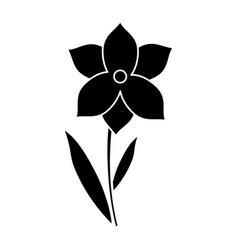 Narcissus flower spring season pictogram vector