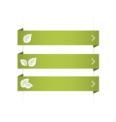 options leaves vector image