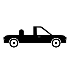 Pickup icon simple style vector