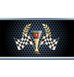 Racing prize grunge vector image vector image