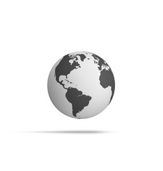 Realistic earth globe hover in the air vector