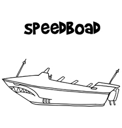 Speedboat of transportation art vector