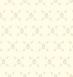 Spica wheat seamless pattern vector