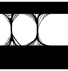 spider net background vector image