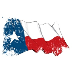 Texas waving flag grunge vector