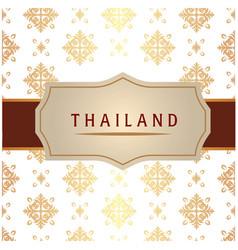 Thailand ribbon frame thai design white background vector