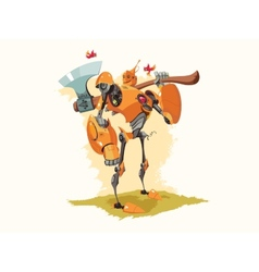 Tin woodman robot vector