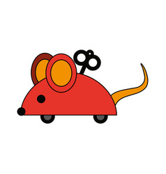 Wind up mouse toy icon image vector