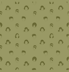 Woman hair style silhouettes seamless pattern vector