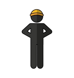 Worker logistic silhouette icon vector