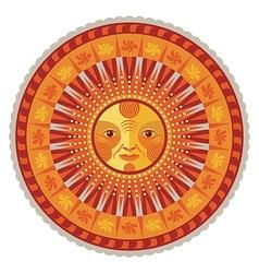 Decorative Summer Mandala vector image