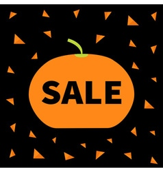 Cute pumpkin halloween big sale banner poster card vector