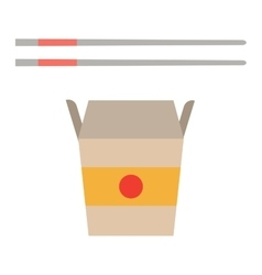 Fast food noodles box vector