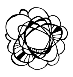 Simple hand drawn doodle circle template vector