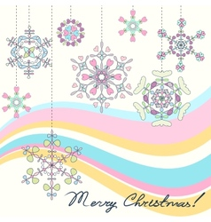 Vintage christmas background with stylized vector