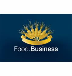 food business logo vector image