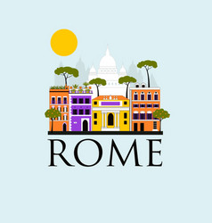 Travel background of rome vector