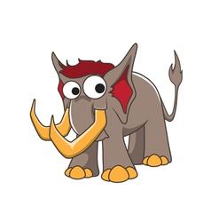 Mammoth cartoon vector image