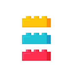 blocks construction toys flat vector image