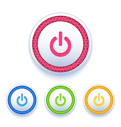 Power buttons icon set vector
