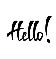 Hello lettering handmade calligraphy vector