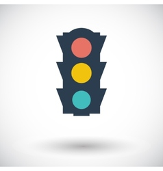Traffic light icon vector