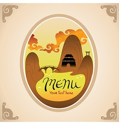 Template Design of Asian Menu vector image
