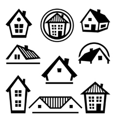 House logo templates set of real estate design vector