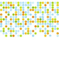 Bright abstract retro circles design vector image
