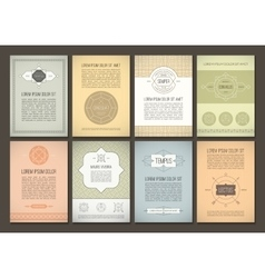 Set of brochures in vintage style vector