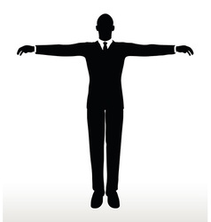 Silhouette of businessman default pose vector