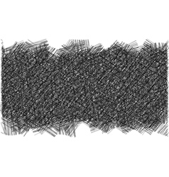 Pencil hatched background in black and white vector