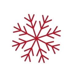 Red snowflake winter design graphic vector