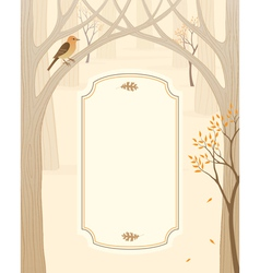 Autumn forest banner vector