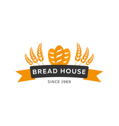 bakery shop emblem labels logo and design vector image vector image