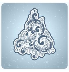 baroque style christmas tree vector image