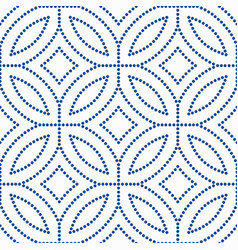 Blue flower pattern beads background vector