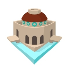 Bode museum in berlin icon cartoon style vector
