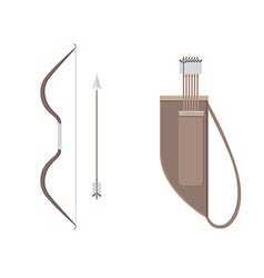 Bow Arrows and Quiver vector image