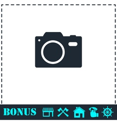 Camera icon flat vector image
