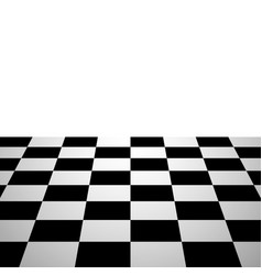 chess board background perspective view vector image vector image
