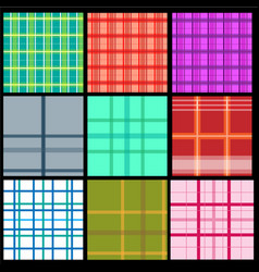 Collection of plaid patterns vector