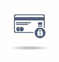 Credit Card Security icon Credit card and Padlock vector image vector image