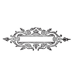Doodad have flowers border vintage engraving vector