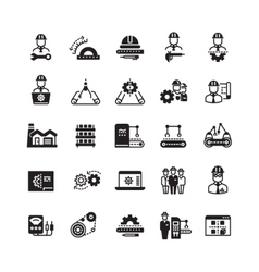 Engineering manufacturing industrial icon vector image